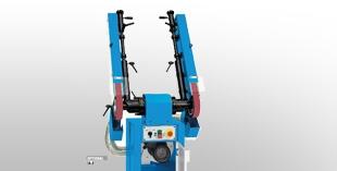 Шлайф машини с насочваща лента и гумено колело